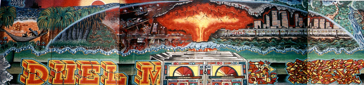 Mural by Duel, early 1990s