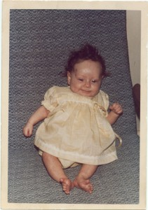 Donna Williams aged 4 months old