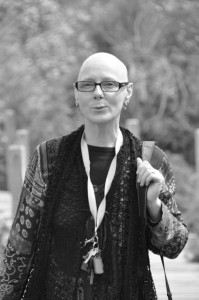 Donna aged 47 during chemo bw