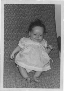donna aged 0.4 months old bw