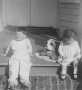 donna aged 2 on porch sml