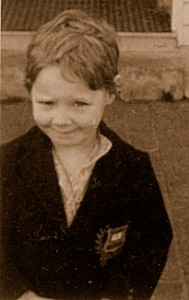 donna aged 4  in uniform a